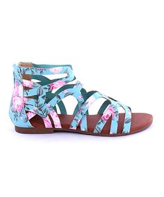 Look what I found on #zulily! MAKERS SHOES Mint & Pink Andrea Sandal by MAKERS  SHOES #zulilyfinds now 16.99