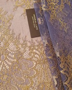 """Imperial Lace on Instagram: """"Purple with gold thread detailing chantilly lace fabric...NEW NEW NEW💍 Clothe yourself in our laces! #couture #fashion #purple #chantilly…"""""""