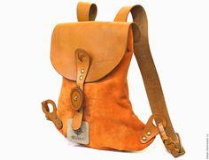 200d82f3f54a Купить Рюкзак Весна (LUNA) - оранжевый, рюкзак женский, рюкзак ручной  работы, рюкзак кожаный