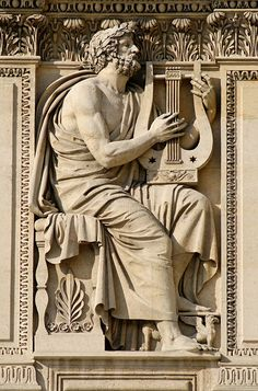A relief of the ancient poet, Homer by Antoine-Denis Chaudet On display at cour Carrée in the Louvre Palace, Paris. Ancient Greek Sculpture, Ancient Greek Art, Ancient Greece, Homer Greek, Louvre Paris, Louvre Palace, Jean Leon, Photo Calendar, Greek Mythology
