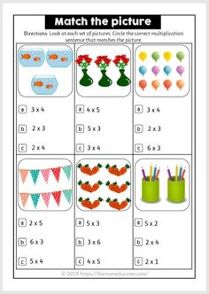 How to teach multiplication to children? Examples + FREE Printable - The Mum Educates Math Multiplication Worksheets, Mental Maths Worksheets, Math Measurement, Printable Math Worksheets, Math Activities, Multiplication Strategies, Math Math, Math Fractions, Math Games