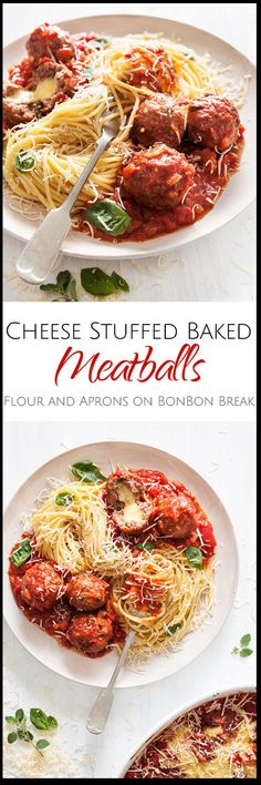 What could be better than meatballs? Meatballs stuffed with cheese! This delicious, time-saving recipe calls for baking rather than pan-frying the meatballs.