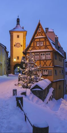 Snow covered ~ Rothenburg, Germany