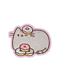 Pusheen Donuts Iron-On Patch,