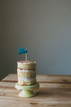 layered icing and sprinkles, from Jewhungry the blog kosher birthday cake