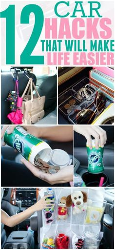 Keeping your car organized and free of clutter can help you focus on driving. Implement these hacks in your car today and thank yourself later. Pinning for later!