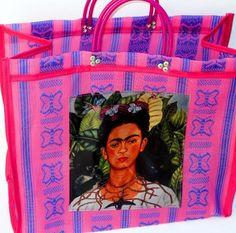 Frida khalo bag,kahlo pink bag,shopping, kahlo, embroidered bag, tribal bag, mexican bag - FREE SHIPPING