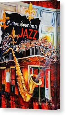 Bourbon Street Painting - The Maison Bourbon New Orleans by Diane Millsap Wall Art Prints, Poster Prints, Framed Prints, Canvas Prints, New Orleans Art, Jazz Art, Thing 1, Bourbon Street, All Poster