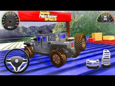 Police Hummer Car Stunts - Impossible Police Hummer Car Tracks 3D - Android Gameplay - YouTube