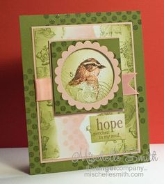 Hope Perches Retiform Card by *Mischelle Smith* - Cards and Paper Crafts at Splitcoaststampers