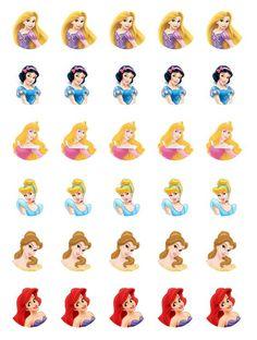 Free Disney Princess Cupcake Toppers