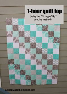 Allison Made It: Super Fast Baby Quilt (Using the Scrappy Trip Method)