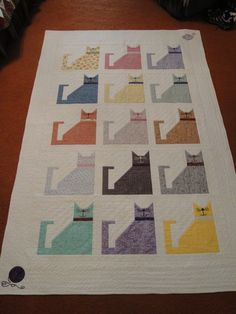 7/12/2015 Grandma's Kitties Quilt donated to Kitten Rescue, Los Angeles, CA - t/b Raffled 9/8/2016 at Fur Ball at the Skirball