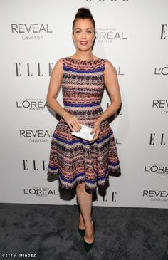 7ab290fb296c Bellamy Young in a Talbot Runhof dress