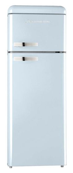 What do you think of this beautiful baby blue Schaub Lorenz refrigerator?