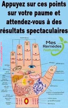Appuyez sur ces points sur votre paume et attendez. Foot Detox Soak, Yoga Positionen, Foot Reflexology, Health Insurance Companies, Naturopathy, Natural Health Remedies, Herbal Remedies, Qigong, Care Quotes