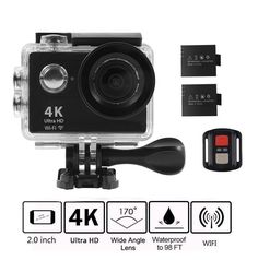 Navitech 60-in-1 Action Camera Accessories Combo Kit with EVA Case Compatible with The Vtin 2.0 Inch 1080P HD Waterproof Sports Action Camera DV Camcorder