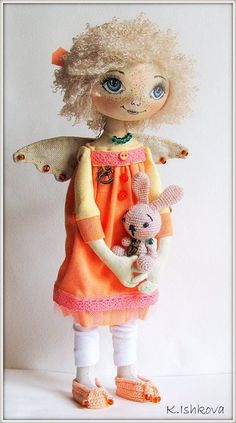 Textile Fantasy Art Fairy Doll Kerry by ArtDollsByKseniya on Etsy