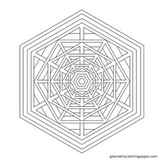 """""""Lattice"""" from geometrycoloringpages.com"""