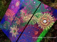 Hey, I found this really awesome Etsy listing at http://www.etsy.com/listing/170164608/henna-mehndi-canvas-12x12-inches-green