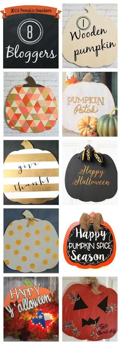 How to decorate a plain wooden pumpkin for Halloween. See how easy it is to use Fusion Mineral Paint and DecoArt Metallic Lustre.