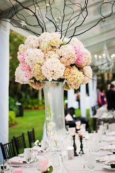 beautiful flower centerpieces.      ///////////.     Vietnamese / English wedding invitation @ www.ThiepCuoiCali.com.   /////////