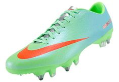 Nike Mercurial Veloce SG Pro Soccer Cleats - Neo Lime with Polarized Blue...at SoccerPro.