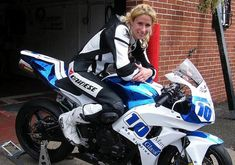 Jenny Tinmouth- the first woman to win a British Supersport Cup race and the World's Fastest Woman around the Isle of Man TT. She's also the part-owner and full time mechanic at the Two Wheel Workshop, near Liverpool.
