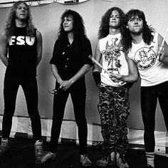 JamesHetfield KirkHammett JasonNewsted y LarsUlrich