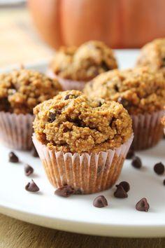 Mini Chocolate Chip Pumpkin Muffins (Made with Almond Flour)