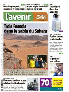 Trois Fossois dans le sable du Sahara