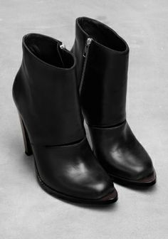 Slit leather ankle boots | & Other Stories