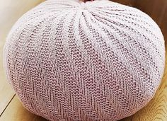 Free Knitting Pattern for Spiral Floor Pouf - Quick knit in super bulky yarn designed by Melissa Leapman from Knit It! Learn The Basics and Knit 22 Beautiful Projects. Approx 47cm in diameter