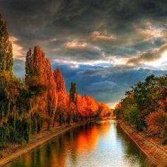 Bega Canal in the city of Timisoara, Romania Beautiful World, Beautiful Places, Beautiful Scenery, Great Places, Places To Visit, Amazing Places, Remote Viewing, Fall Pictures, Adventure Is Out There
