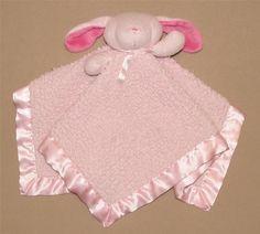 Blankets & Beyond Pink Sherpa Bunny Rabit Security Blanket Lovey Hot Pink Ears #BlanketsBeyond