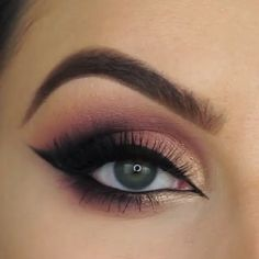 Beatiful eye makeup that you should defenetly give a try! makeup eyemakeup makeupvideos eyemakeuptuto affiliate trendiges augen make up frhjahr 2019 Makeup Eye Looks, Eye Makeup Steps, Beautiful Eye Makeup, Makeup For Brown Eyes, Simple Eyeshadow Looks, Brown Eyeshadow Looks, Black Smokey Eye Makeup, Purple Smokey Eye, Amazing Makeup