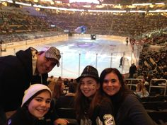 Family night at a Pittsburgh Penguins game!