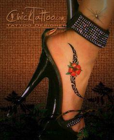 Tribal foot tat