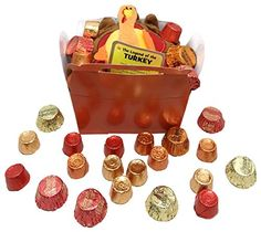 Happy Thanksgiving ~ Autumn Colored Treat Filled Boxes ~ Includes Candy and Plush Turkey