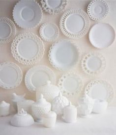 beautiful milk glass -makes me think of mom