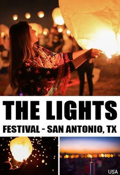Thousands of sky lanterns filled with positive messages peacefully rising at their own pace. Welcome to the Lights Festival! This was in San Antonio, Texas but there are Lights Festivals all across the USA #lightsfest #usa #texas #sanantonio