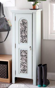 Painted Entryway Wood Cabinet | littleredwindow.com