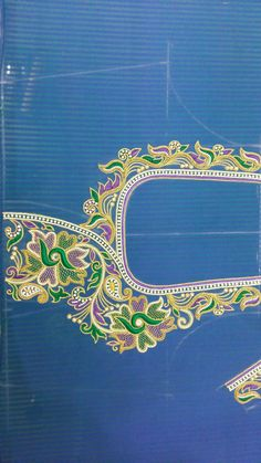 Pattu Saree Blouse Designs, Blouse Designs Silk, Simple Blouse Designs, Simple Designs, Aari Work Blouse, Smocking Tutorial, Sari Design, Maggam Work Designs, Hani