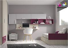 Juvenil con cama nido escritorio estanterías