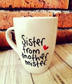 sister from another mister Gifts For Your Bestfriend, Funny Gifts For Friends, Bestie Gifts, True Friends, Gifts For Her, Great Gifts, Birthday Greetings, Birthday Wishes, Birthday Gifts