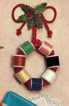 Subversive Femme: A sewing-inspired festive wreath, c. 1952