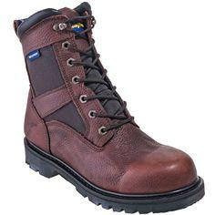 Goodyear Footwear Goodyear Boots Men's Brown 8-Inch Waterproof Slip-Resistant Leather Boots GY8063,    #GoodyearFootwear,    #GY8063,    #Men'sBoots