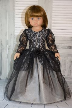 Dress is sized to fit Kidz n Cats doll .  Best fits on the slim type of a body or Kidz n Cats from 2010- 2011 years .    The Dress opens/ closes