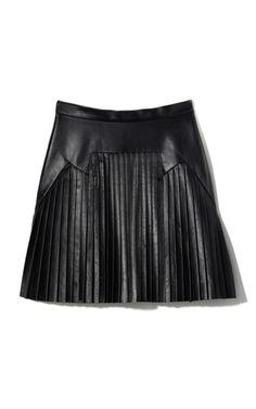 Closet Must Own: pleated leather skirt by Cushnie et Ochs