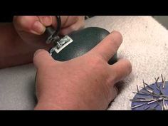 Emu Egg Carving Cross and flowers tutorial 5 of 5
